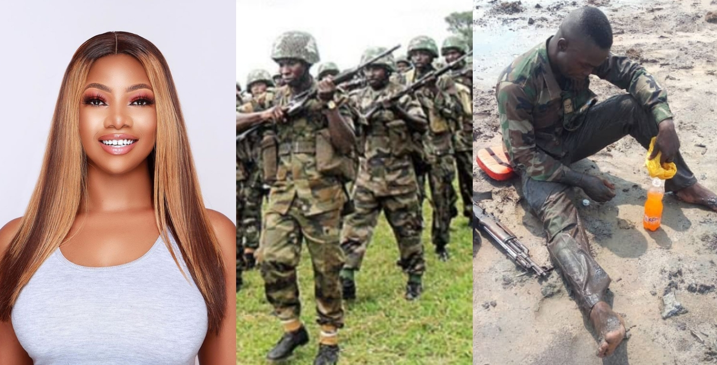 """""""We owe them a lot"""" – Tacha Prays For Nigerian Soldiers Fighting Boko Haram"""